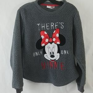 Disney Fleece Top There's Only One Minnie